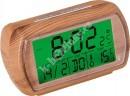 Rádiem řízený budík JVD RB78.3 imitace dřeva