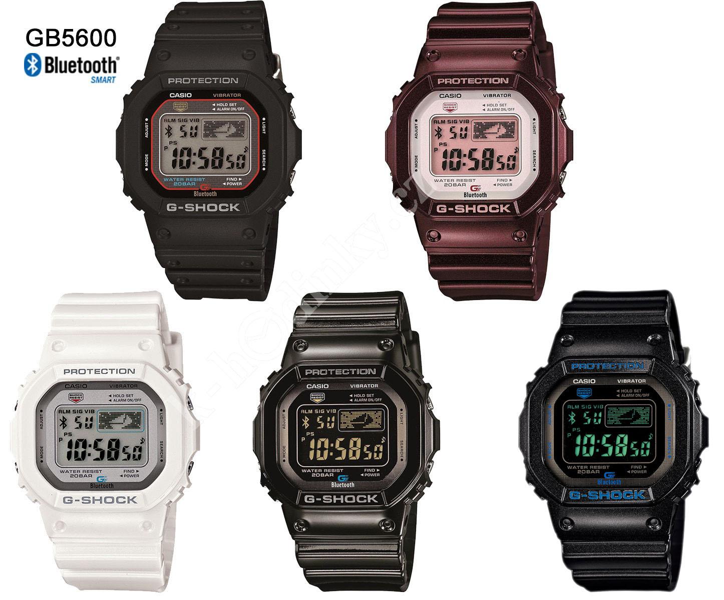 Hodinky Casio G-Shock GB 5600AA-1A Bluetooth - Hodinky Casio a Citizen 3b1cb4628c6