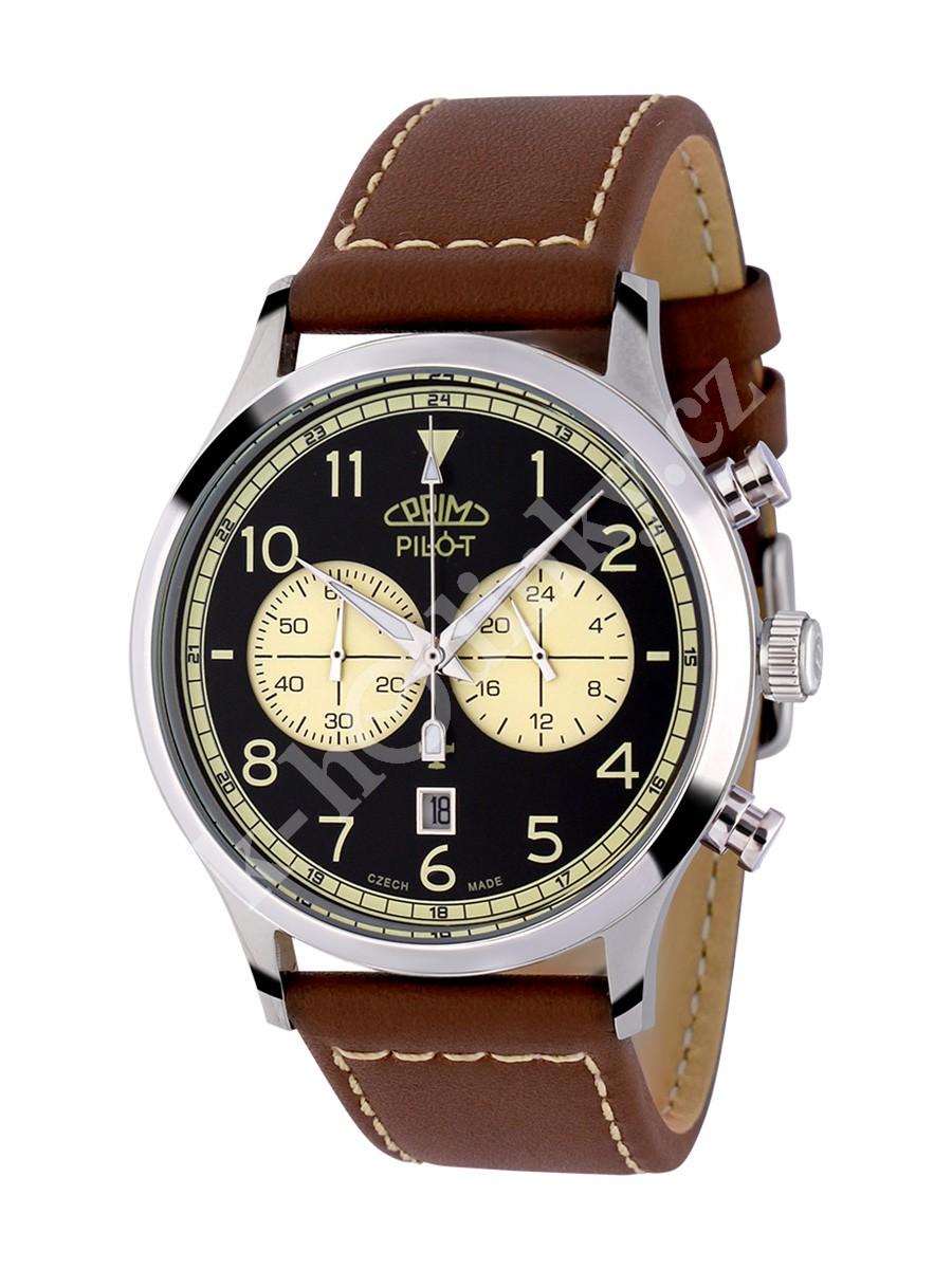 Pánské hodinky Prim Pilot Chronograph W01P.13068.B - Hodinky Casio a ... 6c91420d95